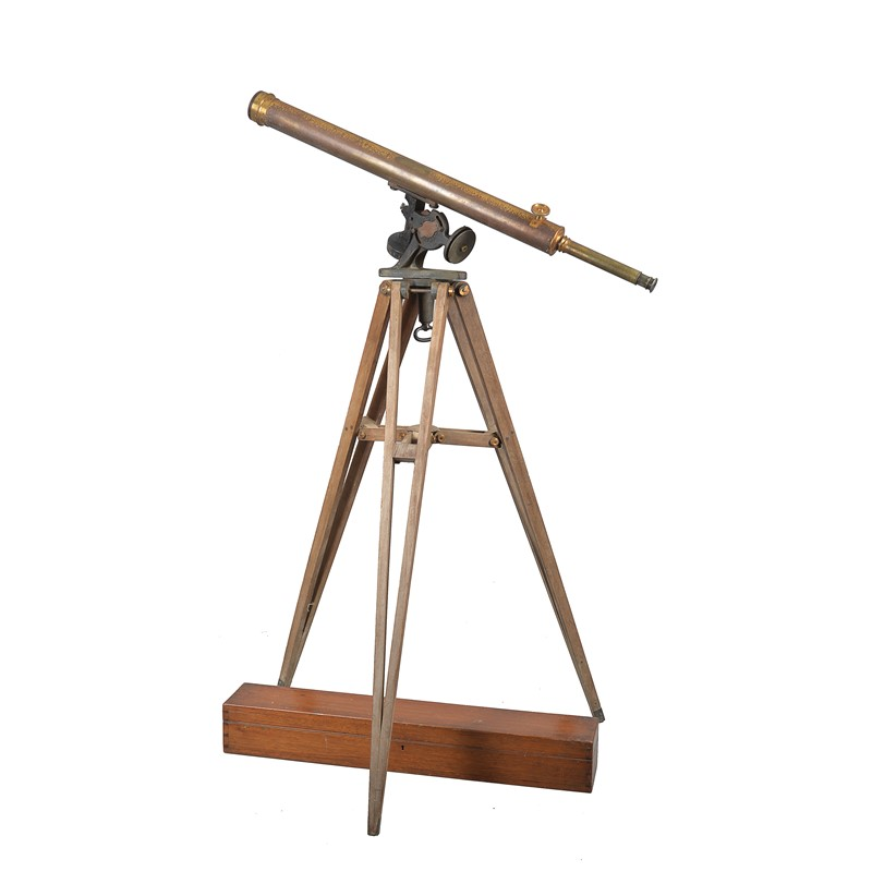 A Victorian lacquered brass 2.75-inch refracting telescope