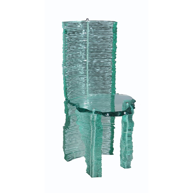 Danny Lane (b. 1955), a stacked float glass chair