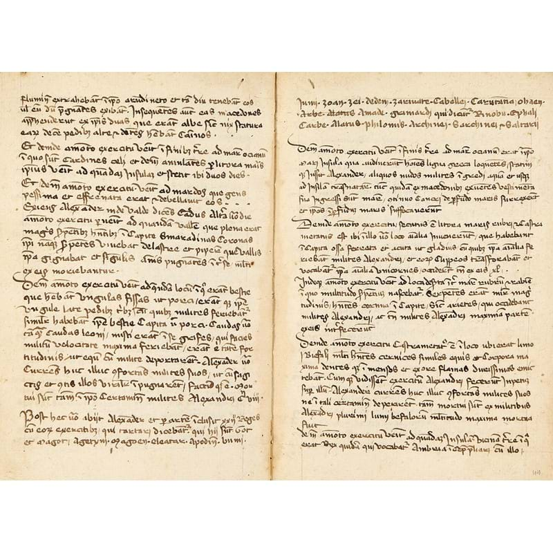 Presbyter Leo of Naples, Historia Alexandri Magni (Historia de preliis), in Latin, manuscript on paper [Italy (perhaps northern border with Switzerland), second half of fourteenth century]