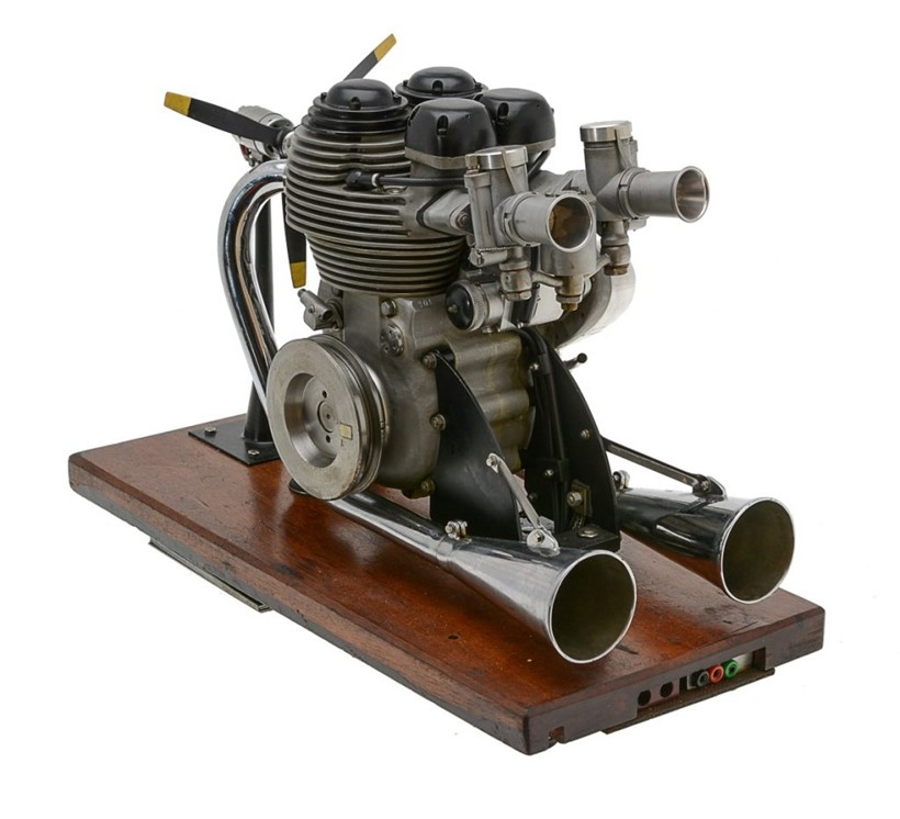 Inline Image - 1/2 size working model of a Matchless G45 twin cylinder motor cycle engine,  Est. £1,000-1,500 (+fees)