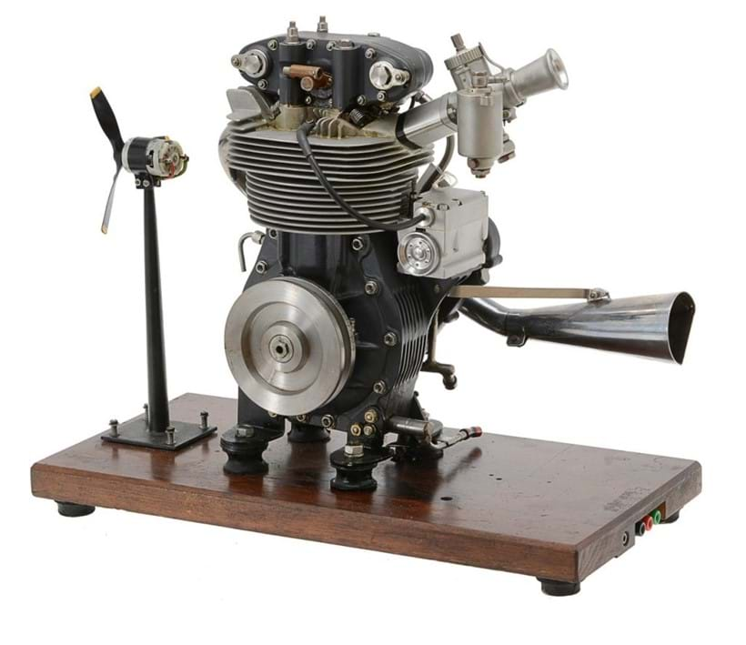 Inline Image - 1/2 size working model of a 1956 'Manx Norton' short-stroke motor cycle engine,  Est. £1,000-1,500 (+fees)