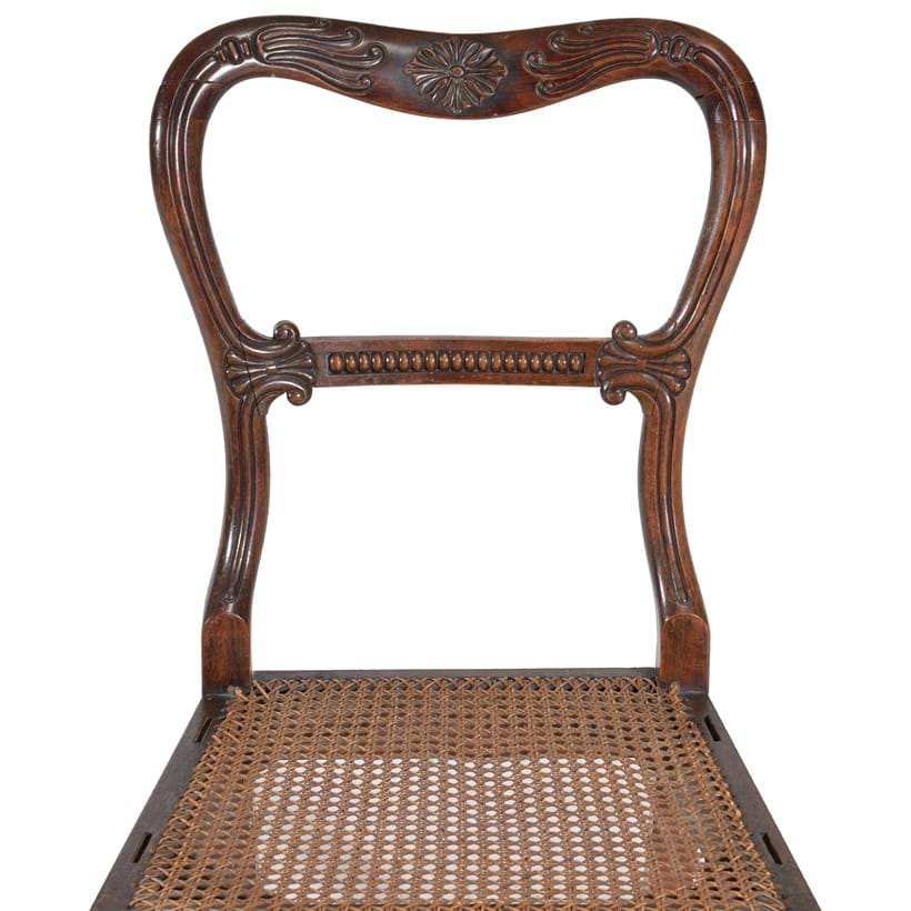 Inline Image - Lot 288: A set of six George IV simulated rosewood dining chairs, circa 1825 | Est. £600-800 (+fees)