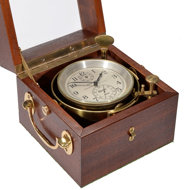 An American two-day marine chronometer, Hamilton Watch Company, Lancaster, PA, 1941