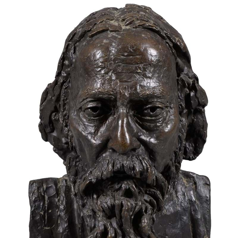 Sir Jacob Epstein (1880-1959), Portrait of Rabindranath Tagore, bronze with a brown patina