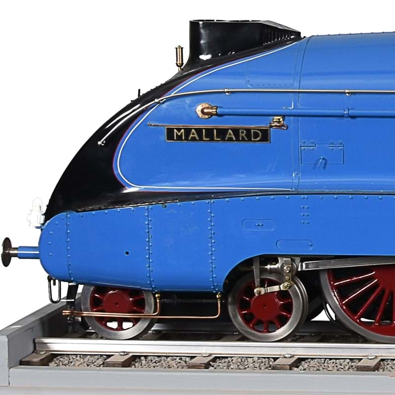 A fine exhibition quality 5 inch gauge model of a London North Eastern Railway A4 Pacific Class 4-6-2 live steam tender locomotive 'Mallard' no. 4468 | The Lord Braybrooke Collection