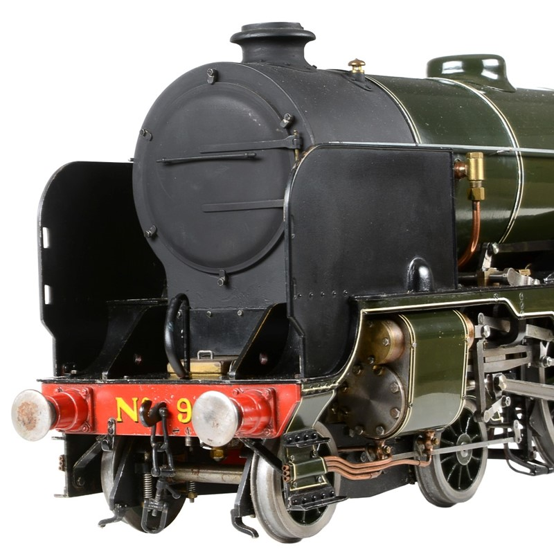 An exhibition standard 3 ½ inch gauge model of a Southern Class V Schools 4-6-0 tender locomotive no. 935 'Sevenoaks'
