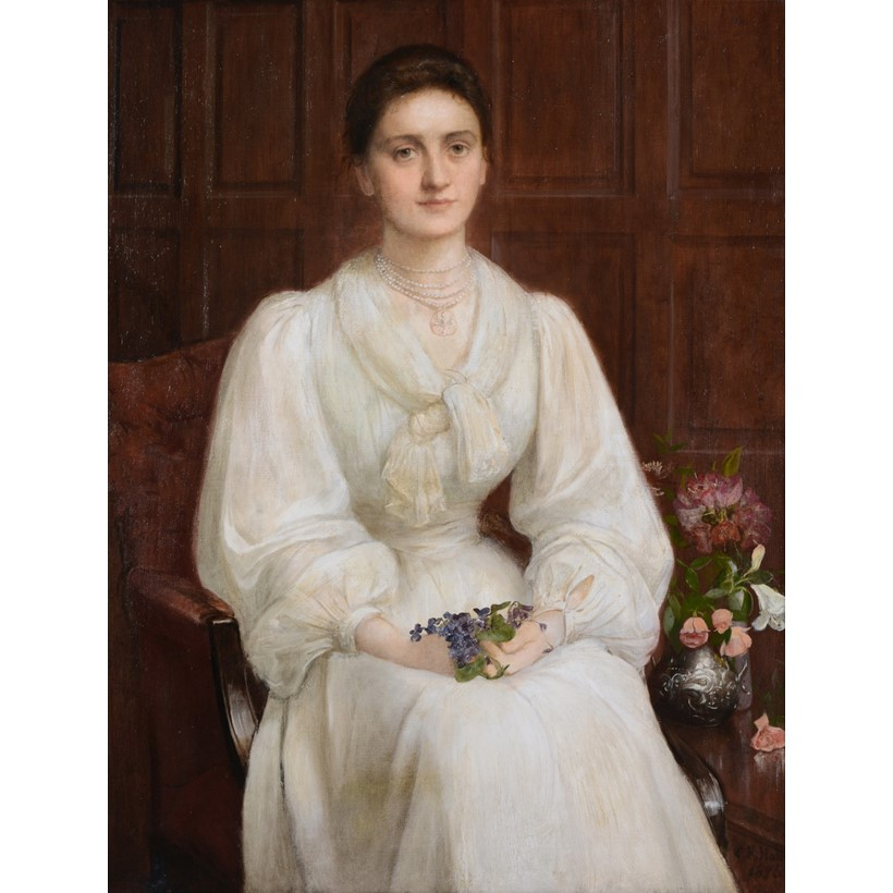 Inline Image - Charles Edward Hallé (1846-1914), portrait of Leonora Philipps, oil on canvas, signed and dated 1896, lower right; est. £3,000-5,000 (+fees)