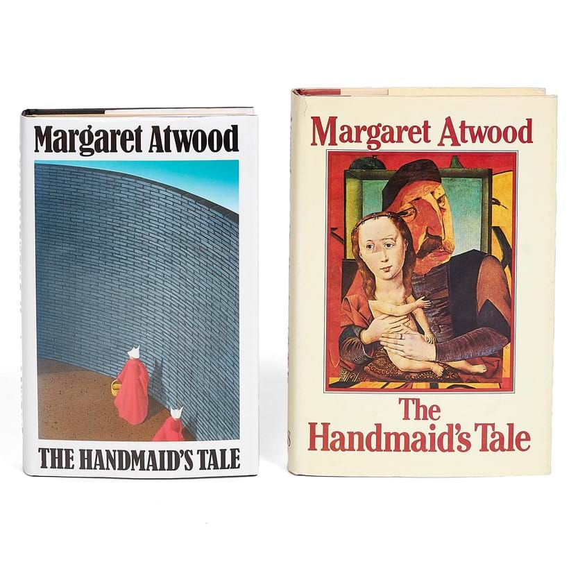 Inline Image - Lot 11: Margaret Atwood, The Handmaid's Tale, first Canadian and English editions, signed by the author [London & Toronto, 1985], a pair; sold for £937