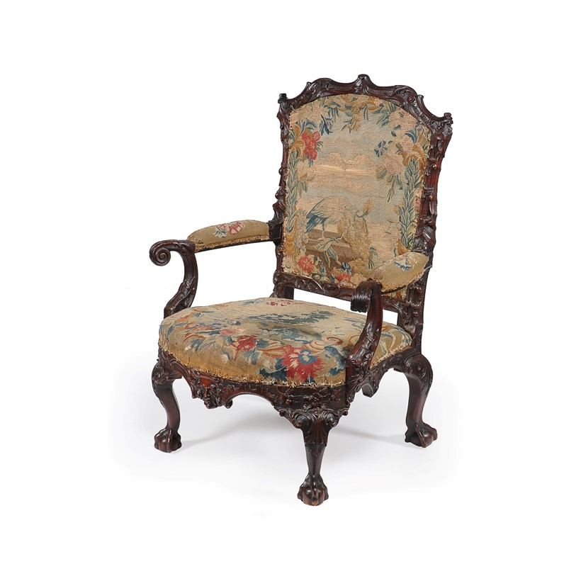 Inline Image - A George II 'red' walnut armchair, est. £8,000-12,000 (+fees)