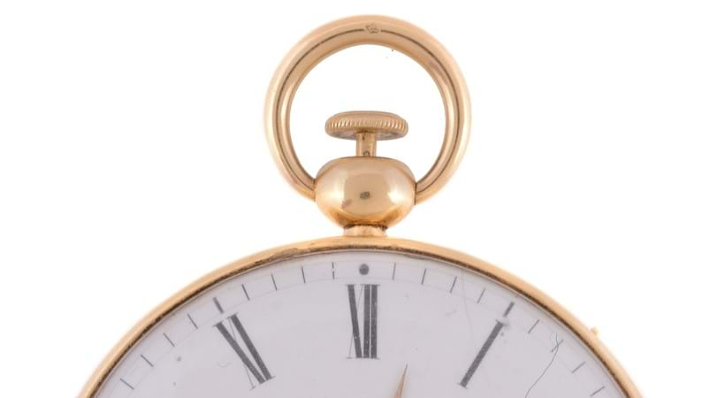 Inline Image - Gold open face quarter repeater pocket watch with dead beat seconds; est. £3,000-5,000 (+fees)