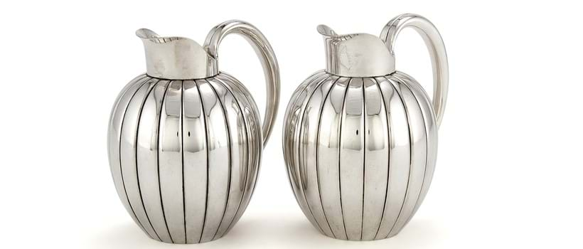 Inline Image - Lot 214, pair of Danish silver Bernadotte cream jugs or pitchers,  post 1945; est. £1,500-2,000 (+fees)