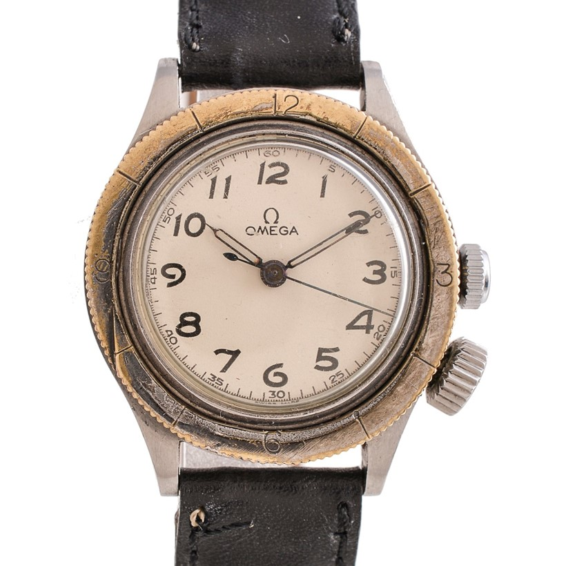 Inline Image - Lot 210, Omega, Weems, Ref. CK2129, stainless steel wrist watch, no. 9948153, circa 1940s; est. £300-500 (+fees)