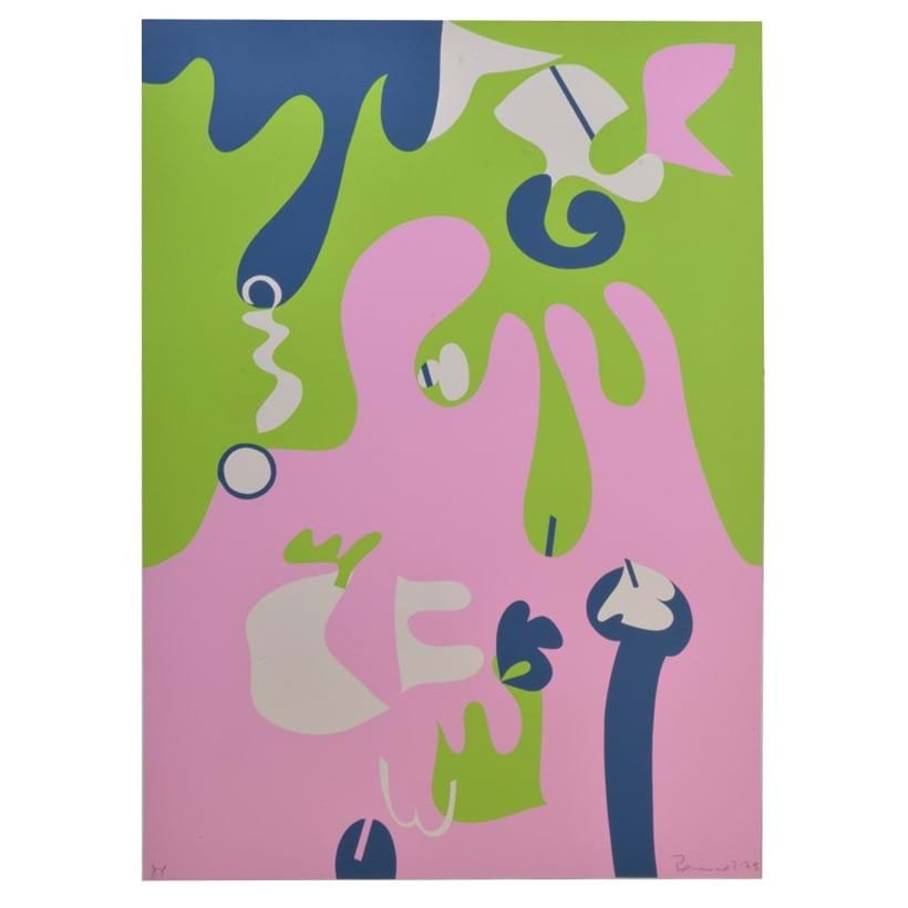 Inline Image - Lot 17, Focal Point (Pink. Green, Blue & White), screenprint in colours, 1975; est. £400-600 (+fees)