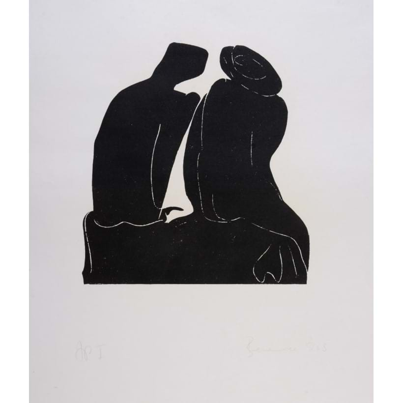 Inline Image - Lot 9, Untitled (Two seated female nudes), linocut; est. £400-600 (+fees)