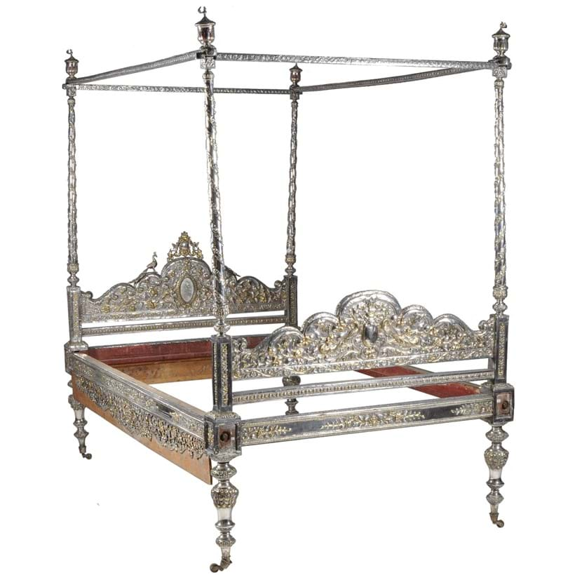 Inline Image - Lot 281, Indian Parcel-Gilt Four Poster Bed, probably Rajasthan, India, second half 19thc.; est. £10,000-15,000 (+fees)