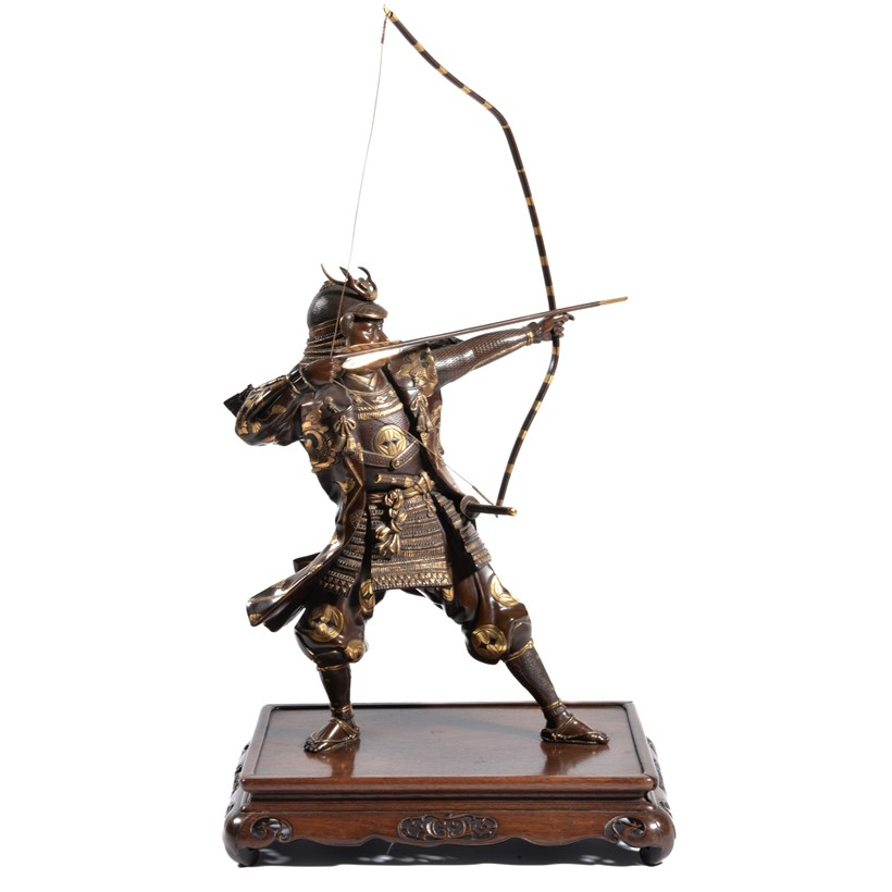 Inline Image - Lot 339, a Bronze Miya-o Style Figure of a Japanese archer; est, £2,000-3,000, sold for £10,000