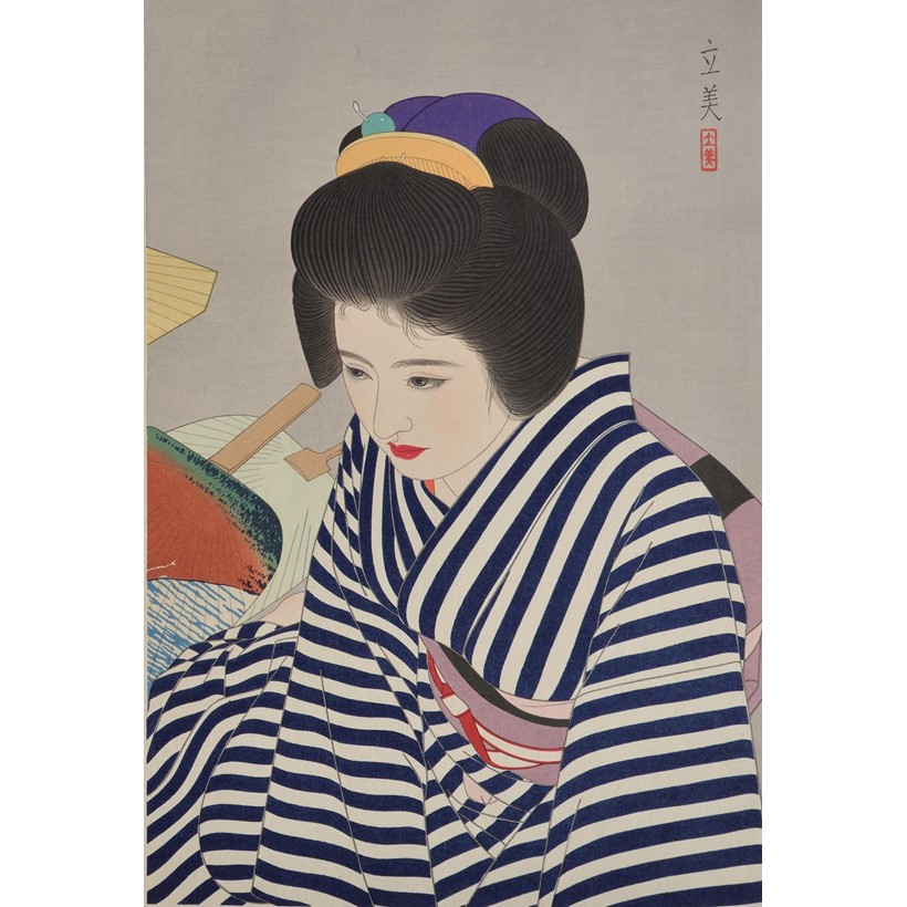 Inline Image - Lot 457, Shimura Tatsumi (1907-1980), from Five Figures of Modern Beauties; est. £300-400, sold for £1,125