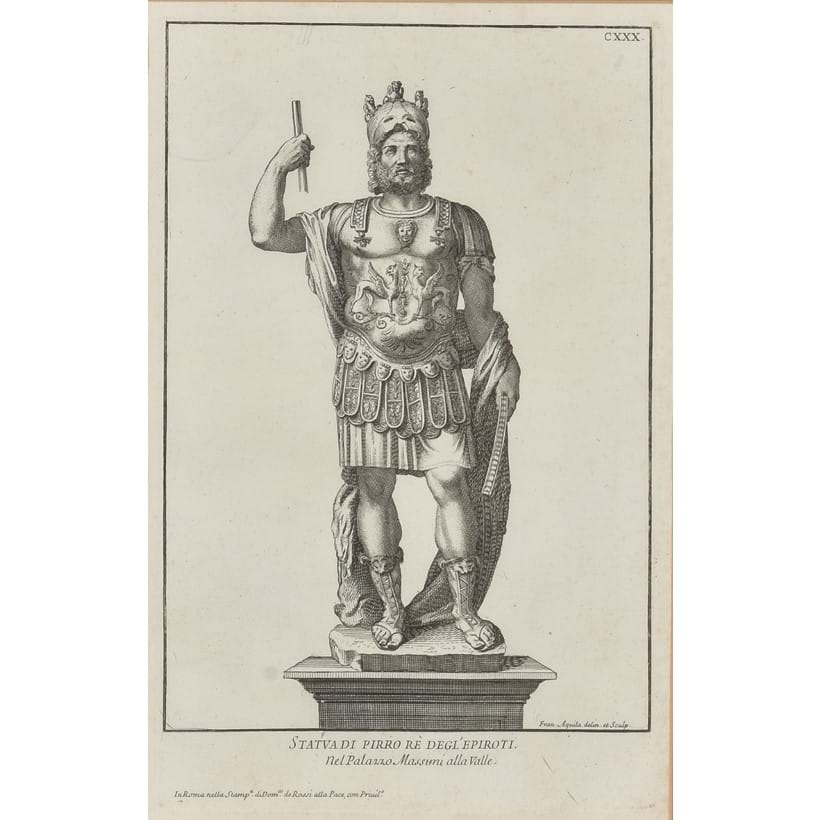 Inline Image - Lot 206, Italian School, 19th century, a set of six book plates of classical statues, est. £300-500 (+fees)