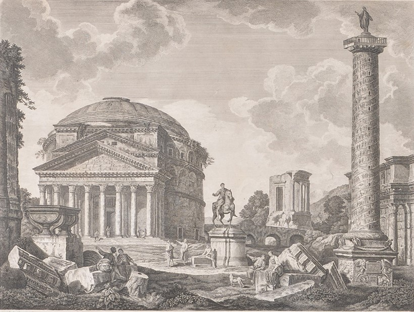 Inline Image - Lot 132, set of four 18th century engravings of Italian Roman ruins; est. £700-900 (+fees)