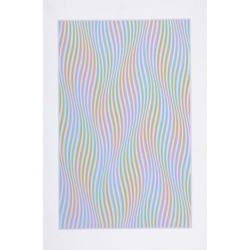 Inline Image - Bridget Riley (British b. 1931), Elapse (Schubert 30), screenprint in colours; est. £2,000-3,000, sold for £5,580