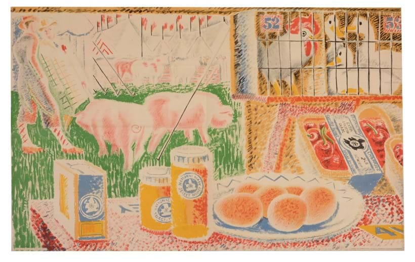 Inline Image - Clifford and Rosemary Ellis, The Market Stall, Honey and Plums