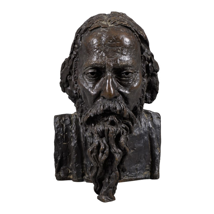 Inline Image - Sir Jacob Epstein (American/British 1880-1959), Portrait of Rabindranath Tagore, bronze with a brown patina, signed and numbered II lower right; est. £8,000-12,000, sold for £16,250