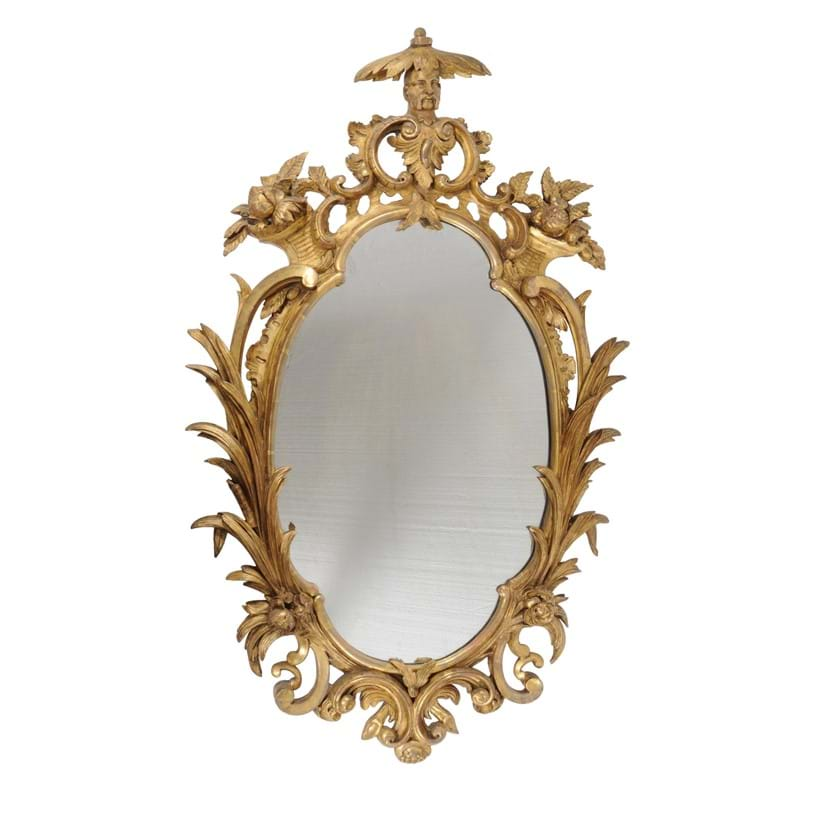 Inline Image - Lot 89, George III giltwood wall mirror in the manner of Ince & Mayhew, circa 1780; est. £2,000-3,000 (+ fees)