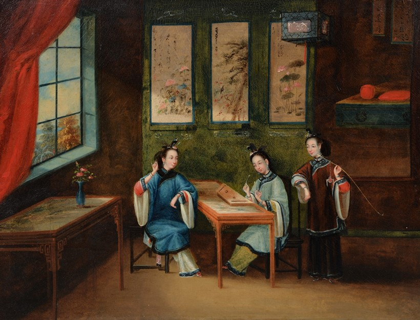 Inline Image - Lot 19, Chinese school, 19th century, Domestic Scene; est. £500-800, sold for £7,500