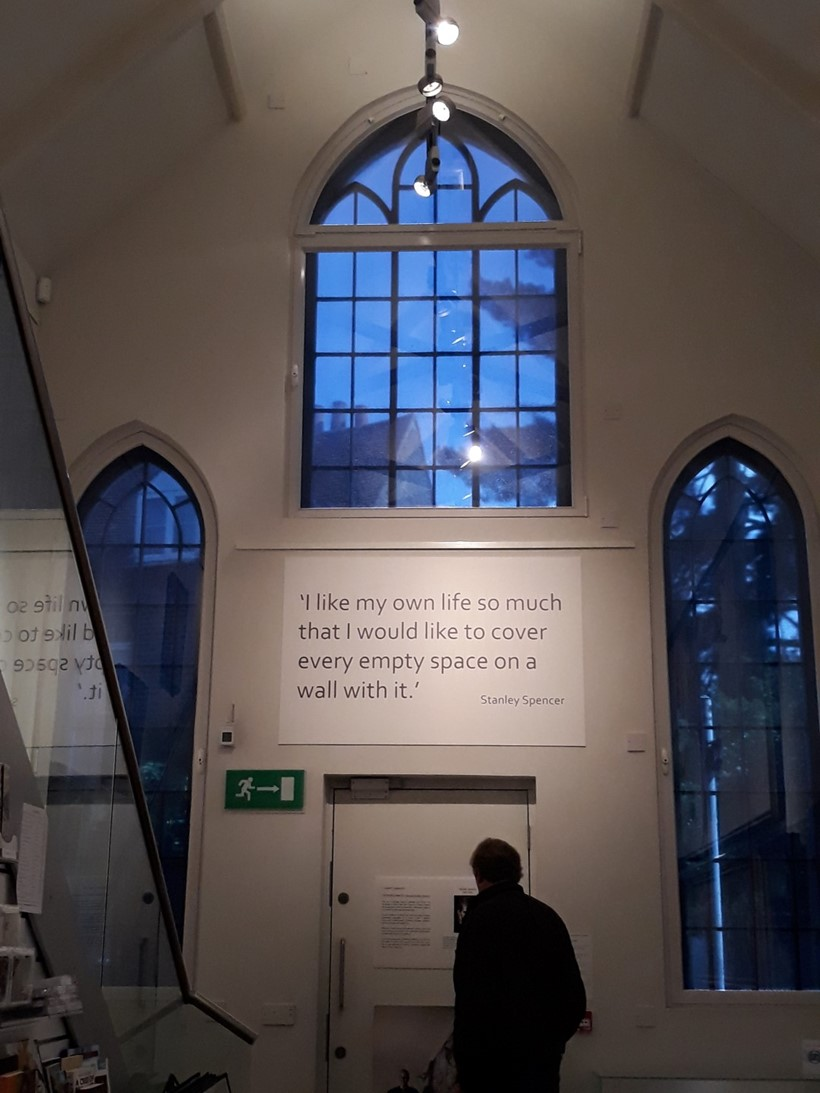 Inline Image - The interior of the Stanley Spencer Gallery, Cookham, Berkshire