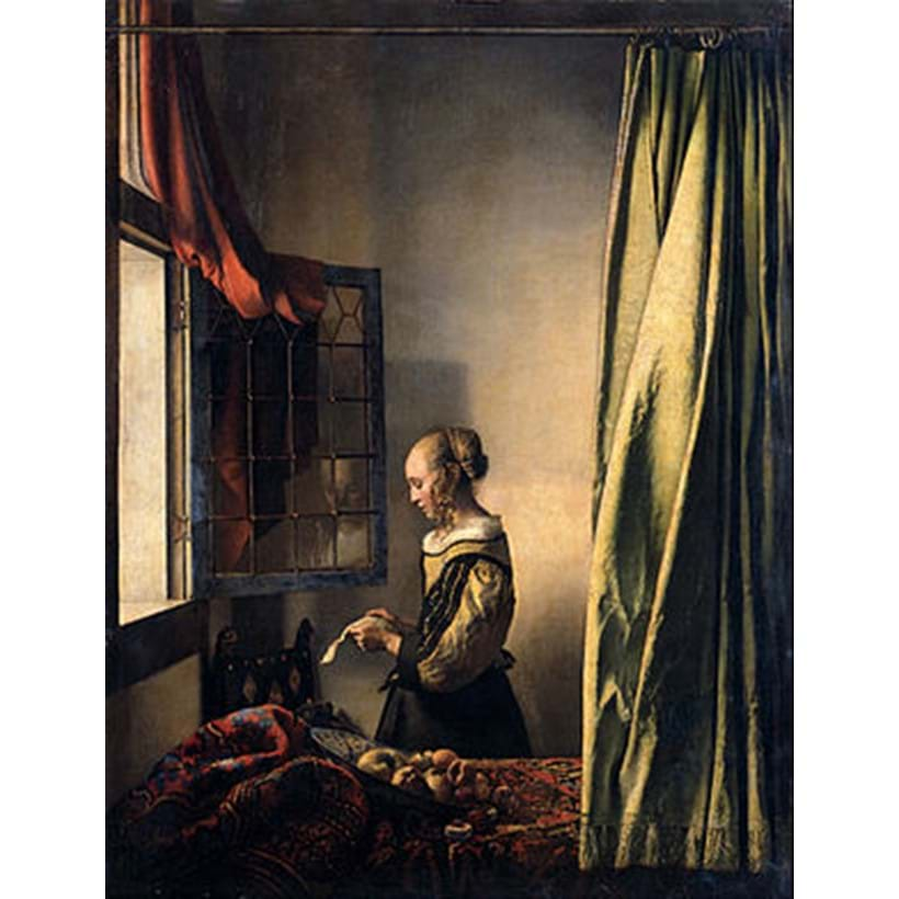 Inline Image - Johannes Vermeer, Girl reading a letter by an open window, c. 1657-1659 | Image courtesy of Gemäldegalerie, Dresden