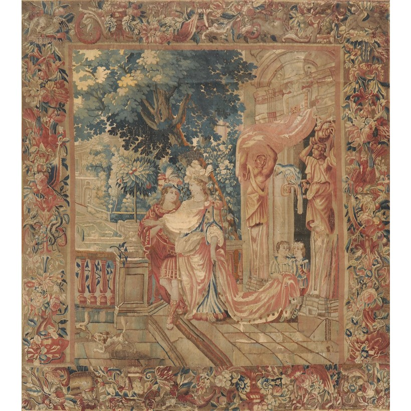 Inline Image - Lot 13, Franco-Flemish tapestry, depicting a marriage scene, late 17th century; est. £4,000-6,000 (+ fees)