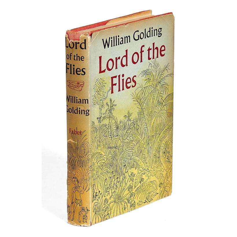Inline Image - Lot 30, William Golding, Lord of the Flies, first edition,  dedication copy signed by the author, [London, Faber and Faber Ltd., 1954]; est. £3,000-4,000 (+fees)