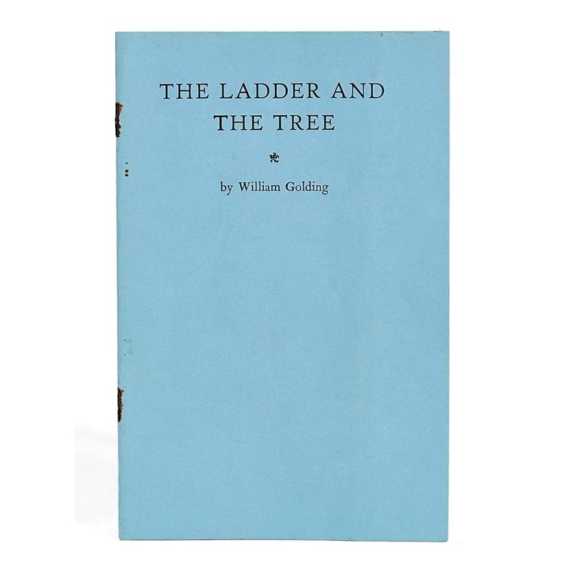 Inline Image - Lot 31, William Golding, The Ladder and the Tree, privately printed limited edition, first state, signed by the author,  [Marlborough, Marlborough College Press, 1961]; est. £1,000-1,500 (+fees)