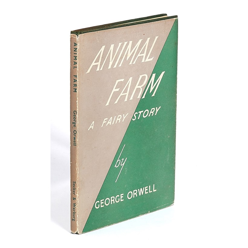 Inline Image - Lot 56, George Orwell, Animal Farm, A Fairy Story, first edition,  [London, Secker & Warburg, 1945]; est. £1,000-1,500 (+fees)