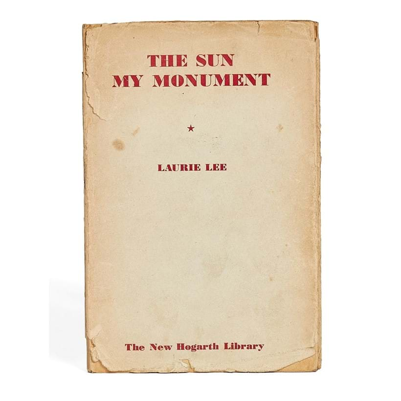 Inline Image - Lot 43, Laurie Lee, The Sun My Monument, first edition in book form, Iris Murdoch's personal copy [London, The Hogarth Press, 1944]; est. £150-200 (+fees)