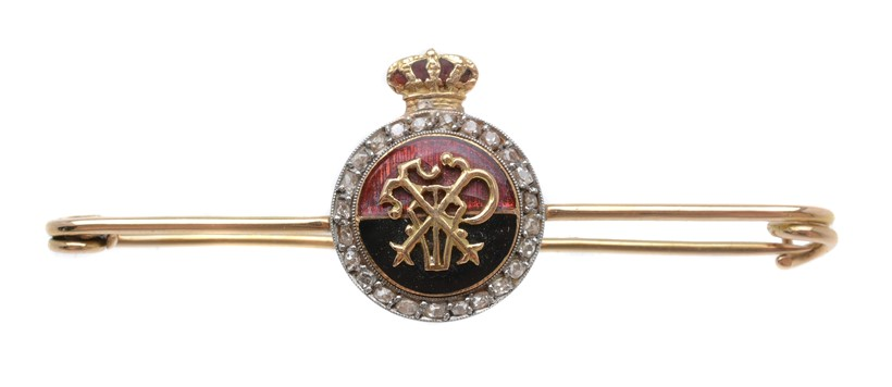 Inline Image - Lot 40, a mid 20th century diamond regimental bar brooch; est. £100-150 (+fees)