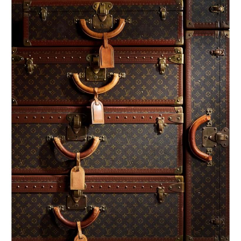 Inline Image - Louis Vuitton vintage canvas and leather hard cases