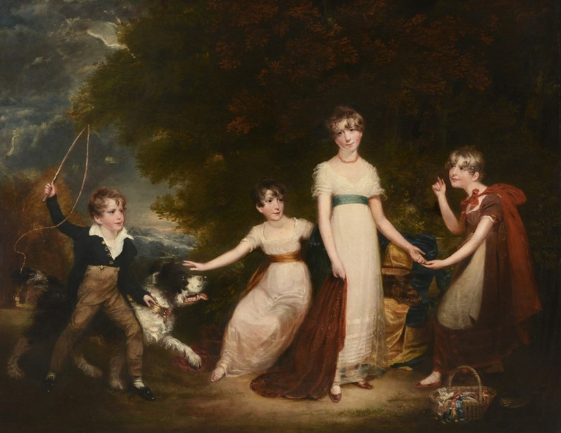 Inline Image - Lot 42, attributed to Sir William Beechey (British 1753-1839), The Stirling Family, oil on canvas; est. £20,000-30,000 (+fees)