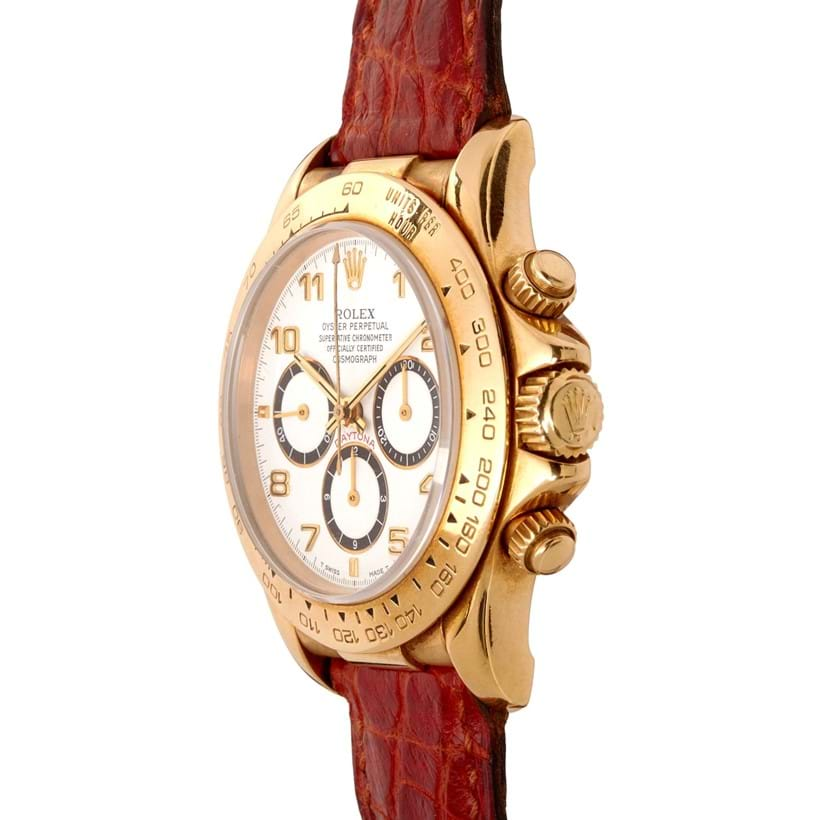 Inline Image - Lot 259, Rolex, Oyster Perpetual Cosmograph Daytona, ref. 16518, an 18 carat gold wrist watch; est. £7,000-9,000 (+fees)