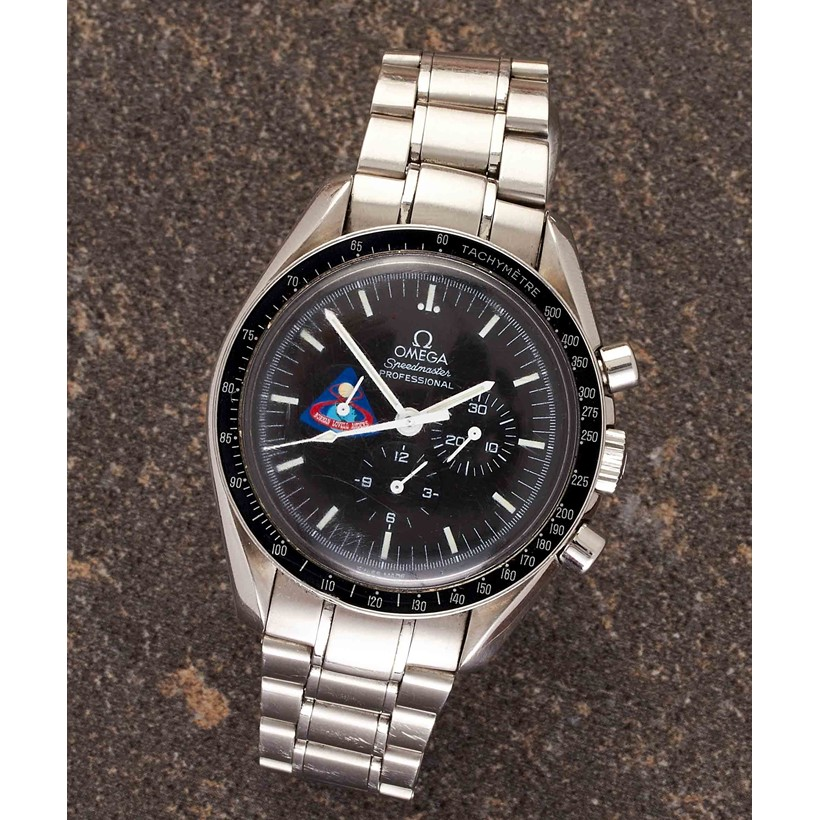 Inline Image - Lot 221, Omega, Speedmaster Apollo 8 series, ref. 35971200, limited edition stainless steel bracelet wrist watch; est. £1,800-2,600 (+fees)