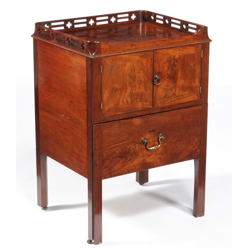Inline Image - Lot 114, George III mahogany bedside commode,  attributed to Thomas Chippendale, circa 1770; est. £1,500-2,000 (+fees)