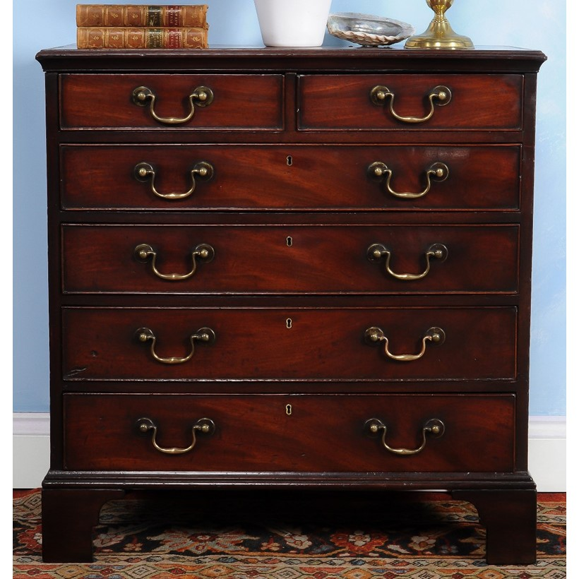 Inline Image - Lot 76, George III mahogany chest of drawers, circa 1780; est. £2,000-3,000 (+fees)