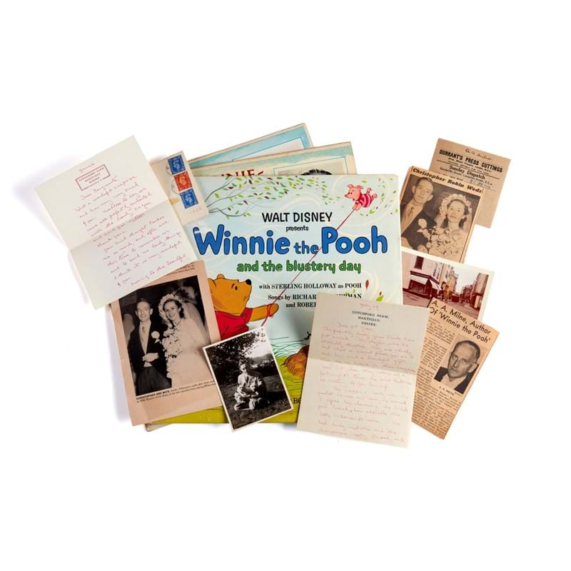 Collection of autograph letters and cards from the Milnes to Joseph and Joyce Gaus, including signed books