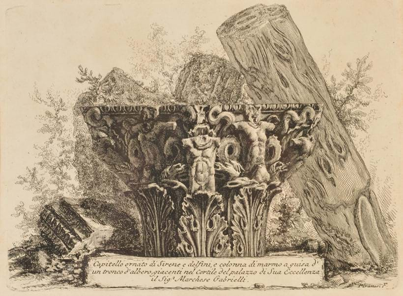 Inline Image - Lot 26: Giovanni Battista Piranesi (1720-1778), a group of seven works inc. two architectural capriccios forming the frontispieces to vol II & III respectively of Le Antichità Romane, Rome, circa 1756 | Sold for £2,232