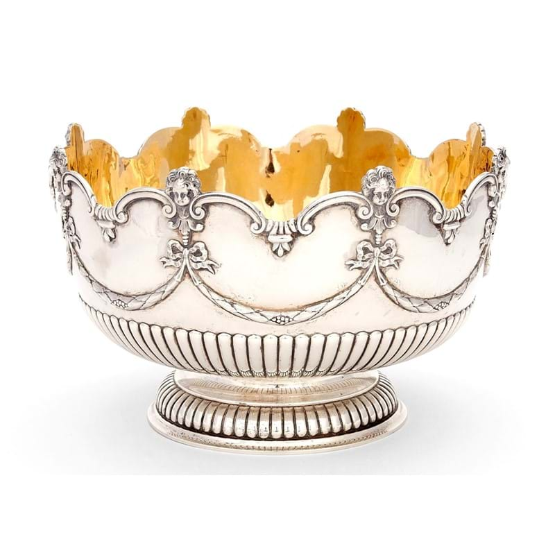 A Victorian silver monteith or punch bowl, by Garrard & Co., London, 1889