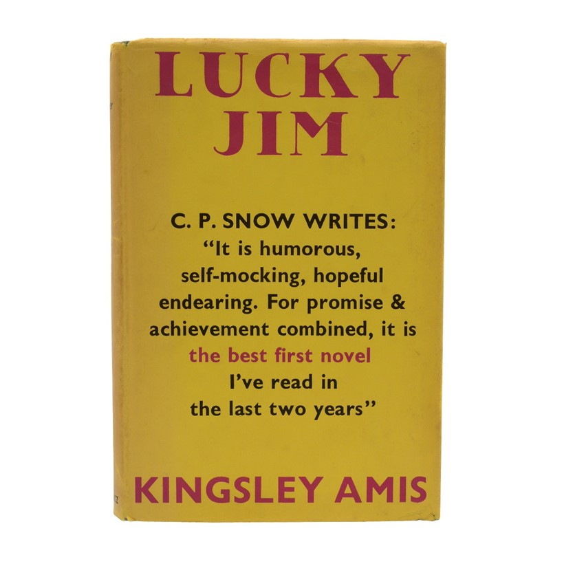 Inline Image - Kingsley Amis, Lucky Jim | first edition, signed by the author | Victor Gollancz, 1953 | est. £800-1,200, sold for £4,375