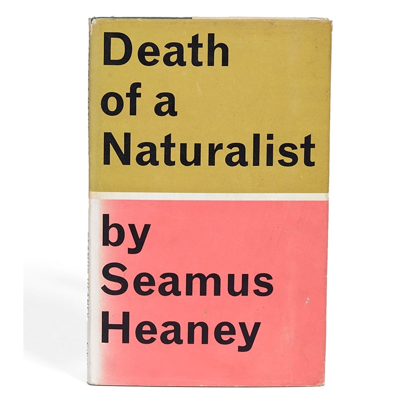 Inline Image - Seamus Heany, Death of a Naturalist | first edition, signed by the author | London, Faber and Faber, 1966 | est. £200-300, sold for £1,984