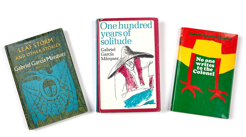 Inline Image - Gabriel García Márquez | One Hundred Years of Solitude, first English edition, 1970 | No One Writes to the Colonel, first English edition, 1969 | Leaf Storm and Other Stories, first US edition, 1972 | est. £120-180, sold for £322