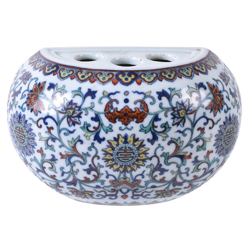A Chinese Doucai style flower vase