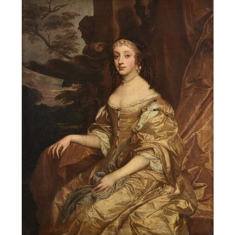 Studio of Sir Peter Lely (British 1618-1680), Portrait of Princess Henrietta Anne Stuart, Duchesse d'Orleans, oil on canvas